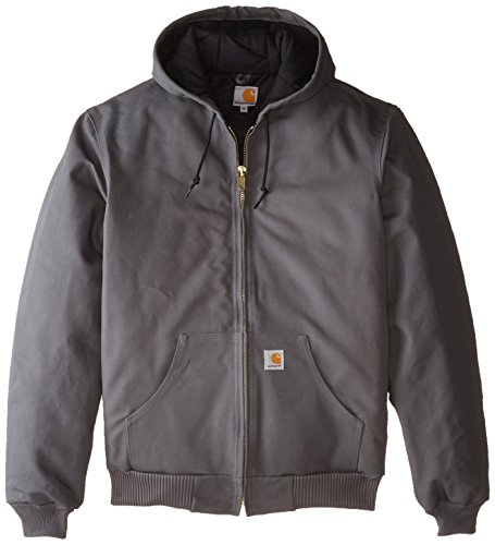 Carhartt Men's Big & Tall Quilted Flannel Lined Duck Active Jacket J140,Gravel,X-Large Tall