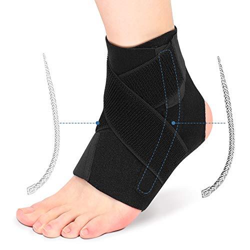 Supporto Caviglia Regolabile, Supporto per Compressione alla Caviglia con Stabilizzatori a Doppia Molla, Cavigliera Distorsione per Artrite, Tendinite, Alleviare il Dolore alla Caviglia, Uomo e Donna