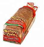 NATURES OWN WHOLE GRAIN BREAD 100% PER LOAF 20 OZ