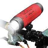 Altavoz Bluetooth con soporte para bicicleta, altavoz bluetooth inalámbrico 4000 mAh Powerbank, luz...