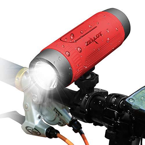 Altavoz Portátil Bluetooth,Altavoces Bluetooth 10W con Power Bank, 24 Horas de Reproducción,Sonido Estéreo TWS,Impermerable,Bluetooth 5.0 y Manos Libres(Rojo)