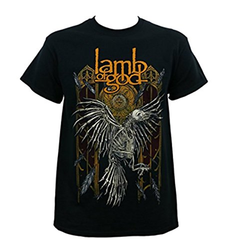 LAMB OF GOD Band Crow Skeleton Black T-Shirt XL