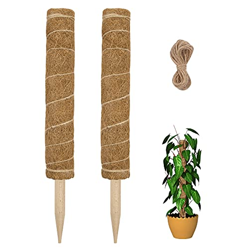 (37% OFF) Moss Pole for Climbing Plants 2-Pack $6.26 Deal