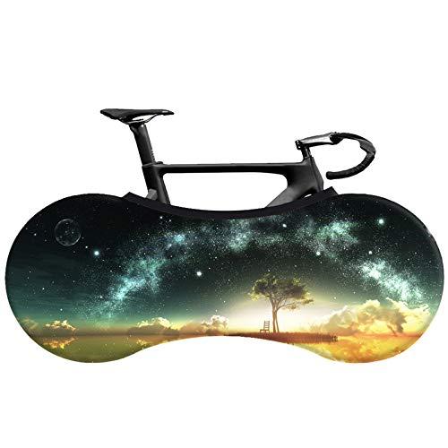 Cubierta de la rueda de bicicleta, bolsa de almacenamiento de bicicletas de interior anti-polvo, paquete de neumáticos protectores de la bicicleta elástica lavable para la bicicleta de carretera MTB,1