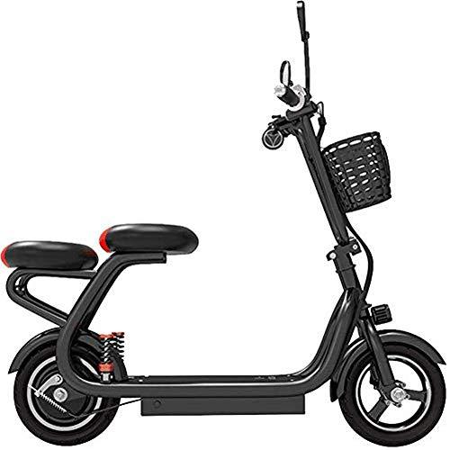FUJGYLGL Adulto Scooter eléctrico, Cuerpo pequeño, Plegable, Fuerte Capacidad de Carga, con batería de Litio for activar, de Carga rápida Velocidad, cómodo Transporte de Personas
