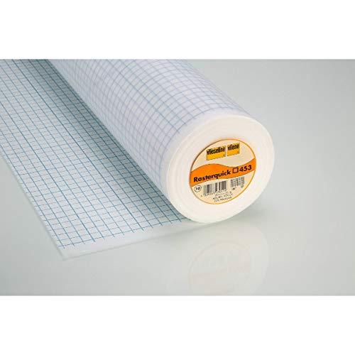 Rasterquick Viereck für Patchwork zum Einnähen 90 cm x 1m weiß