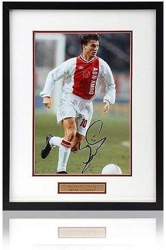British Sports Museum Brian Laudrup Signéà la Main 12x8 Ajax Photo.