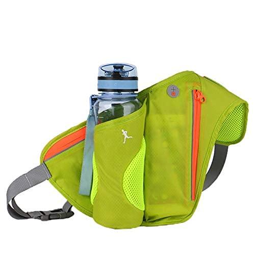 TYUXINSD Schön Laufband Taille Taschen Laufen Sport Frauen Packung Beutel Gürtel Männer Geldbörse Handy Pocket Case Camping Wandern Sport Wasserflasche 1 (Color : Green Color)