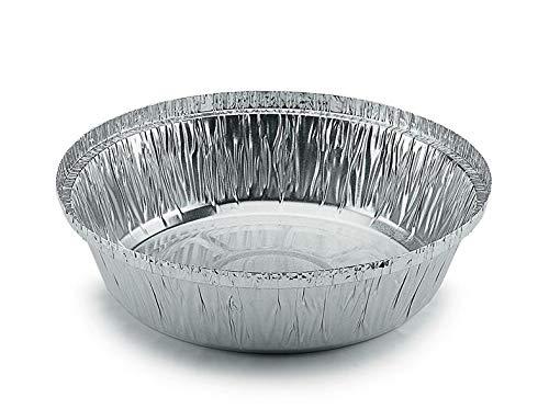 Aluschalen Grill rund mit Deckel ohne Deckel Grillschale Aluminium Schale Tropfschale Menüschalen Einwegschale Fettauffangschale 830ml 18x4cm, Stück:300 Stück, Wunsch:Nur Schale