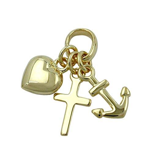 Hanger geloof-liefde hoop, 9 kt goud