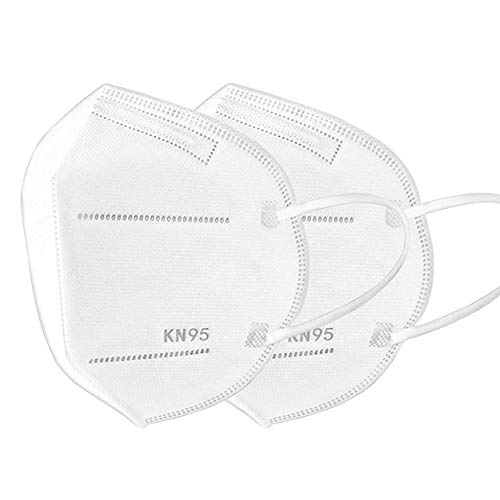 Hoteon Urevo KN95 Respirator Protective Face Mask, 5 Layers Built In Nose Clip, One Time Use/Non-Washable (Pack of 20, White)