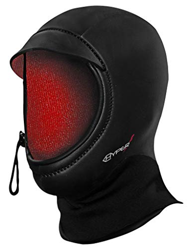 Hyperflex Mesh Series Surf Hood - Ultra-Warm Wetsuit Hood, Black, S