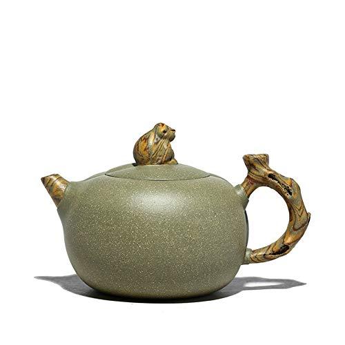 Teapot Tea Pot Monkey Watched in Delight Handmade Teapot Teapot Tea Beans MJZHXM (Color : Green)