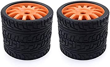 ouying1418 4PCS RC Car Rubber Tyres Wheel for Redcat Team Losi VRX 1/8 Buggy /On-Road Car