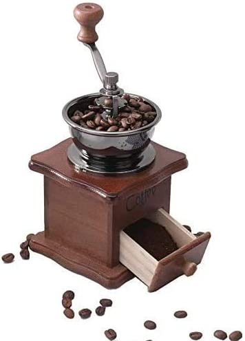 Gleamgo Manual Coffee Bombing Ranking TOP11 free shipping Grinder Wood Antique Ceramic Hand Vintage