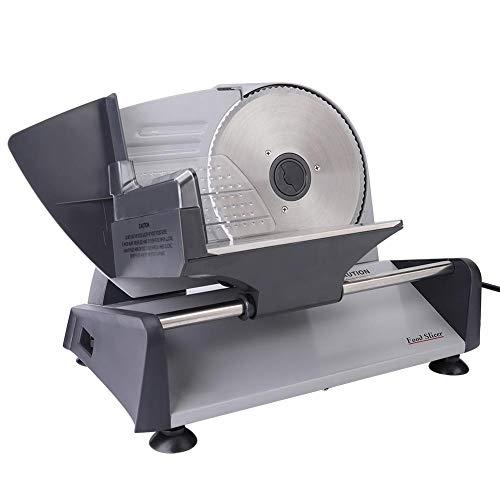 Cortadora de carne eléctrica, cortadora de pan de 150 W con botón...