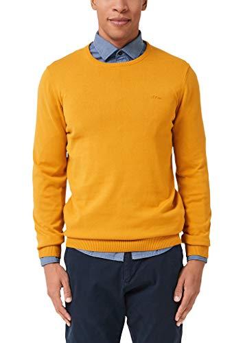 s.Oliver Herren 03.899.61.5232 Pullover, Gelb (Sunny Morning 1549), Large (Herstellergröße: L)
