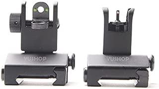 Fiber Optic Mini Flip Up Front & Rear Sight Picatinny/Weaver Rail Mount Flat-Top Pattern