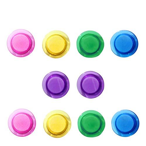 Koelkastmagneten 10 stuks krasvrij gekleurd creatief glas magneten magneetklem voor boodschappenlijstjes afbeeldingen huis gebruik