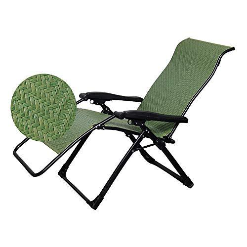 Tumbona plegable para jardín, oficina, casa, silla reclinable, de ratán, silla de respaldo para exteriores