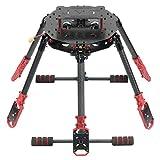 FEICHAO Kit Telaio Pieghevole a 6 Assi 675mm / 610mm con Supporto Motore per Carrello di atterraggio per esacottero Fai-da-Te RC Drone (610mm Wheelbase)