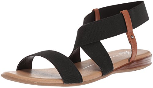 XOXO Women's Bailor Flat Sandal, Black, M085 M US