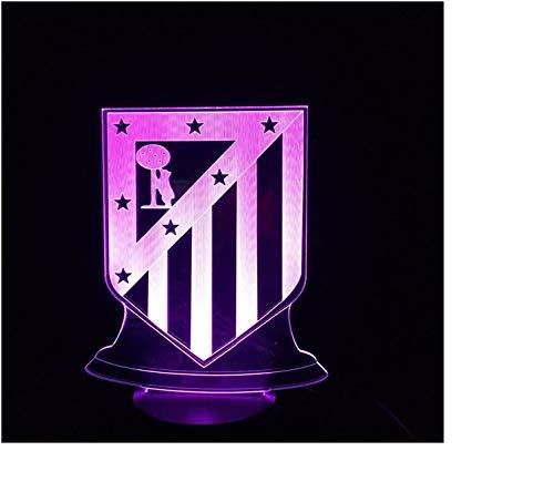 Atletico Madrid FC 7 Color 3D LED Lamp USB Night Light