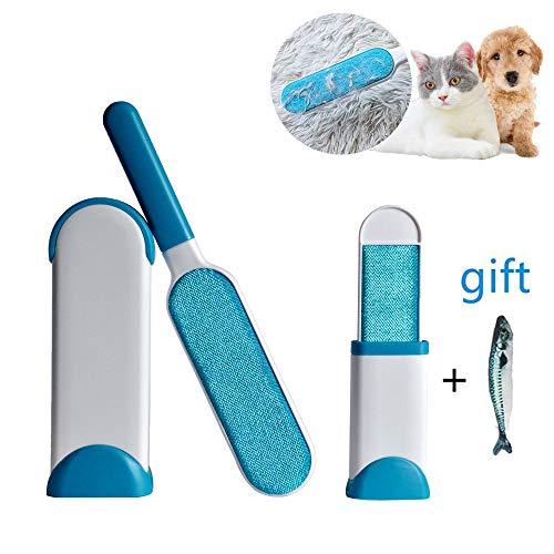 ANPI Cepillo para Quitar el Pelo de la Mascota, Cepillo mágico con Doble Cara para el Gato de eliminación del Pelo de Perro para Limpiar la Ropa a casa
