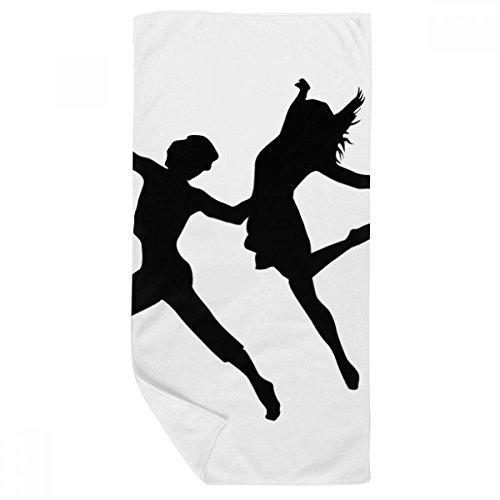 DIYthinker Performance Duo Danse Sports Danseur Serviette de Bain Doux Gant de Toilette Gant de Toilette 35X70Cm 35 x 70cm Multicolor