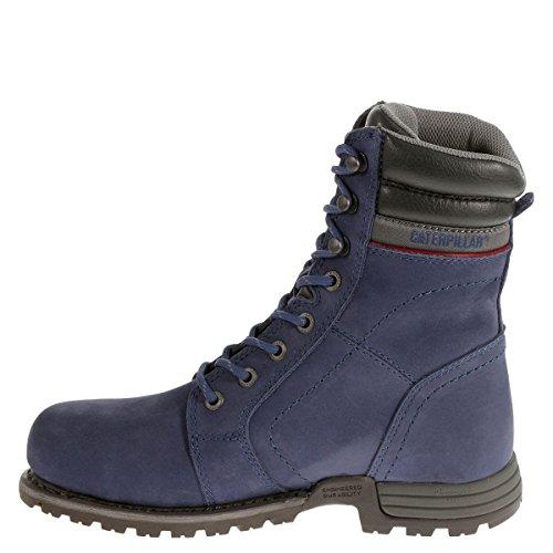 Caterpillar Women's Echo Waterproof Steel Toe Construction Boot, Blue, 10 Wide