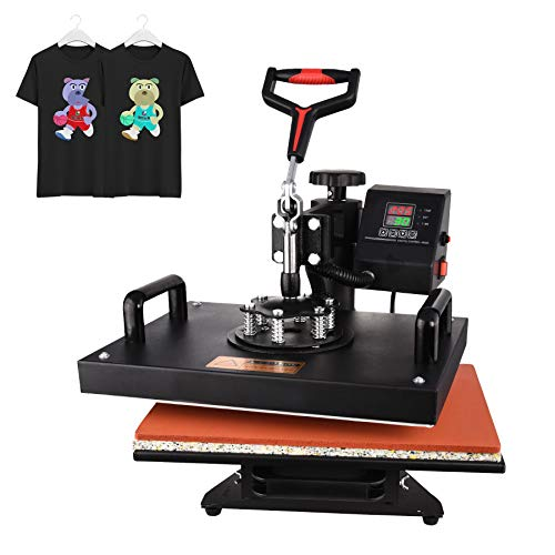 Heat Press Machine, Digital Transfer Sublimation 12 X 15 inches Heat Press Machine for t Shirts, Hat, Mug,Plate Cap, Bags(Include 20 Sublimation Papers) (12 X 15 inches Heat Press Machine)