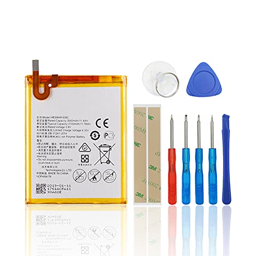 SwarKing Batería de repuesto compatible con Huawei Honor 5X/Honor 6/Ascend G7 Plus/G8/G8X HB396481EBC con kit de herramientas.