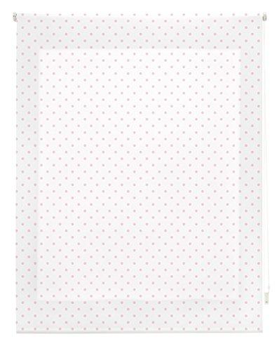 Blindecor Estor Enrollable, Tela, MOTAS Rosa, 130 x 180 cm