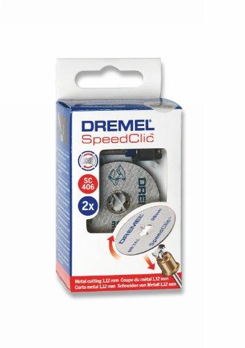 Dremel 406 EZ SpeedClic Starter Set, Snijwielen Accessoire Kit met 2 Metalen zaagschijven en 1 Mandrel voor Rotary Multi Tool