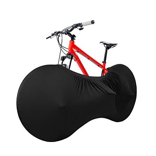 DeepRoar Fahrrad-Radabdeckung, staubdichte Fahrradaufbewahrungstasche, aus hochelastischem Material, geeignet für Innenlagerung und Transport (schwarz)