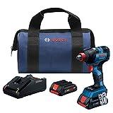 Bosch GDX18V-1800CB25 18V EC sin escobillas Freak 1/4' y 1/2' Kit de controlador de impacto de dos en uno con (2) baterías compactas CORE18V 4.0Ah