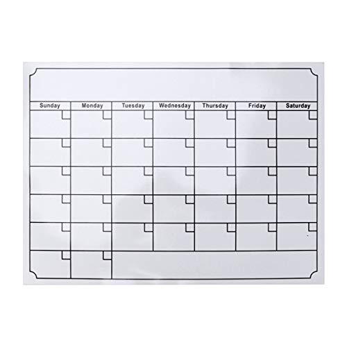 NUOBESTY Calendario magnético para refrigerador, Calendario de borrado en seco, Calendario magnético para frigorífico (Blanco)