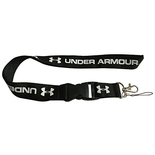 Cybert 1pcs Black Keychain Lanyard Sport Training Running Workout Gym Muscle Office Men Women Fitness Exercise Accessories For Under Armour Enthusiasts With Webbing Strap Quick Release Buckle Lanyard