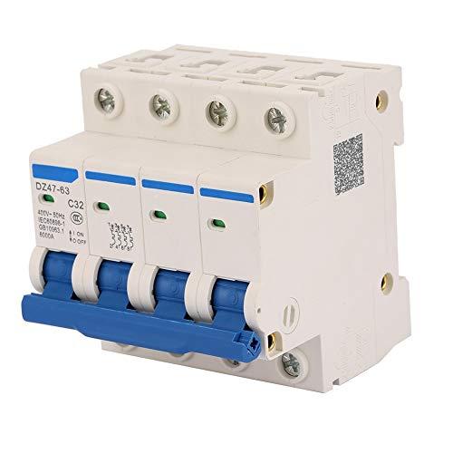 Leistungsschalter, DZ47-63 4P 32A 400V FI-Schutzschalter Fehlerstromschutzschalter Fehlerstromschutzschalter für Inneneinrichtung, Maschinenbau