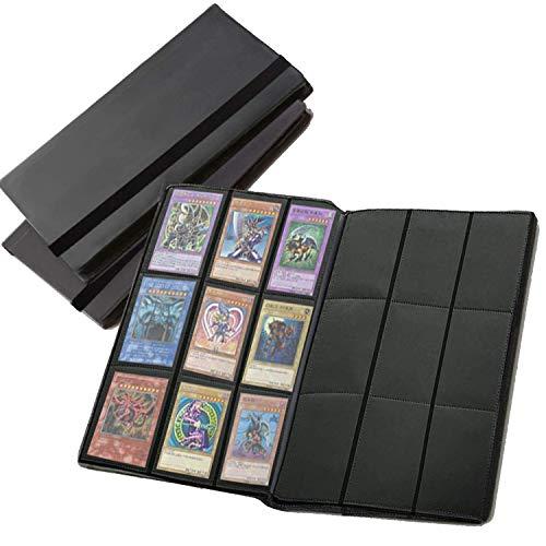 Archivador álbum con sobres con 9 bolsillos para cartas de juego coleccionables – 360 bolsillos totales con apertura lateral – MTG, Pokémon, YuGiOh