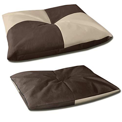 BedDog® BONA 2en1, Beige/Brun, L env. 65x50 cm,6 Couleurs,Panier Corbeille, lit pour Chien, Coussin de Chien