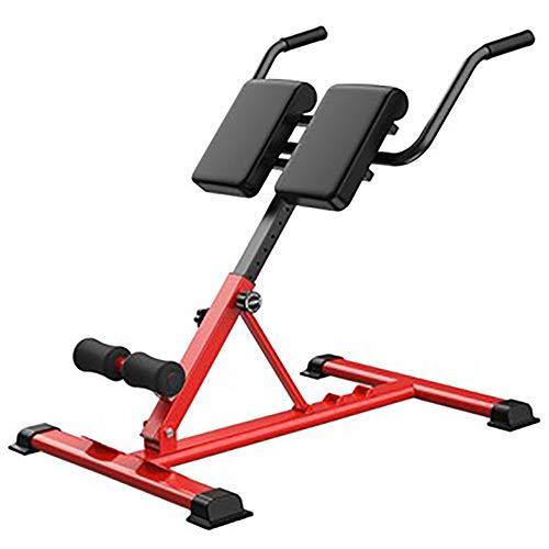 LI MING SHOP Silla Romana Músculos Lumbares Entrenamiento De Músculos Abdominales Fitness Multifuncional Espalda Super Extensión Banco Equipo De Fuerza Adecuado para Gimnasio En Casa(Color:Rojo)