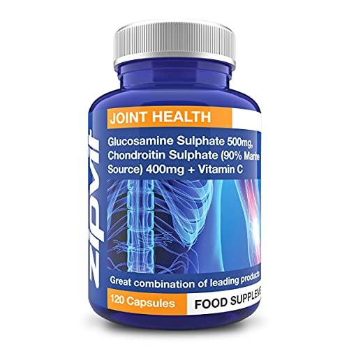 Glucosamine and Chondroitin, 120 Capsules. Glucosamine Sulphate 500mg and Marine Chondroitin 400mg with Vitamin C.