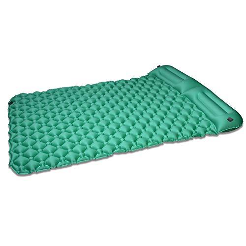 gzadq Camping Aufblasbare Matratze Faltung Aufblasbares Bett Grün.