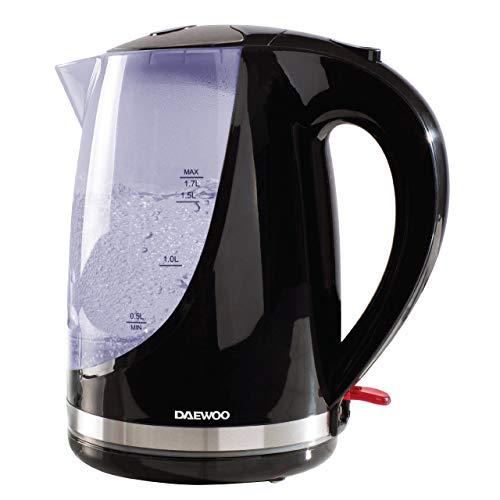 Kabelloser Wasserkocher mit Farbwechsel-Anzeigeleuchte, Edelstahl, Sicherheitsverschluss, Weiß Schwarz