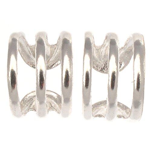 Touch Jewellery - Terzorecchino in argento Sterling, design a fascia tripla, 1 paio