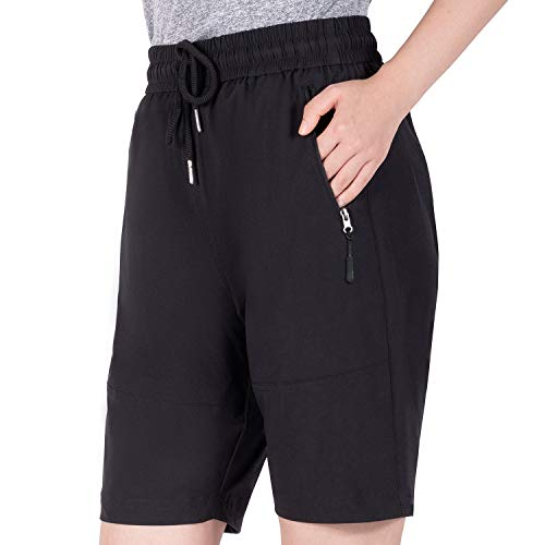 Cycorld MTB Hose Damen Fahrradhose, MTB Shorts Damen Mountainbike Hose, Atmungsaktiv, Schnelltrocknende (L, Neue Schwarz)
