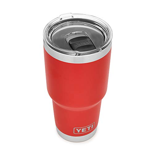 YETI Rambler 30 oz Tumbler, Stainless Steel, Vacuum Insulated with MagSlider Lid, Canyon Red