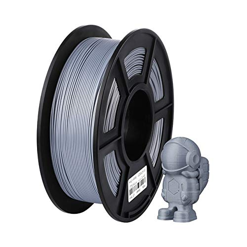 no-branded 3d Printer Accessories 3D Printer Filament PLA 1.75mm Plastic For I3 Mega S 1KG 6 Colors Optional Rubber Consumables Material For Ender 3 Pro CGFEUR (Color : Silver, Size : Free)