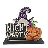 GDEVNSL Centros de Mesa Adornos de Madera Colgantes Nuevos murciélagos de Calabaza Decoración de Escena de Fiesta Colgantes de Madera Calavera de Halloween Araña Bat Partybed